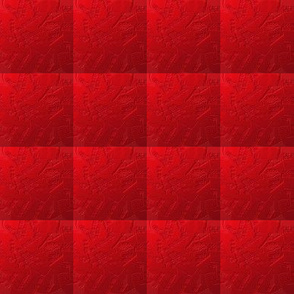 Red in a Textured Quilted Repeat