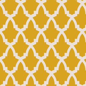 Moroccan Tile Yellow Tile on Cream