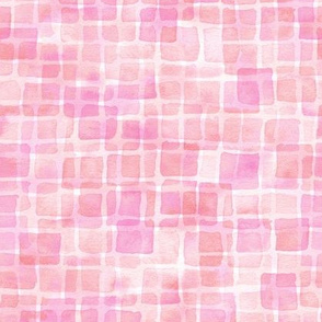 double watercolor squares - pink grapefruit