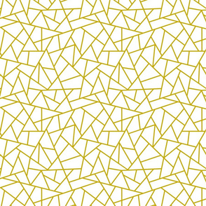 Abstract Geometric Gold on White Small