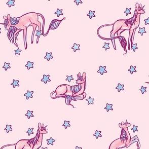 Pink Unicorns & Stars