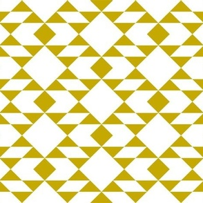 Navajo Inspired Geometric Gold on White