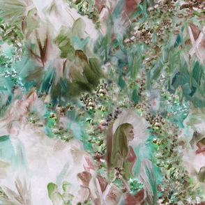Dreamscape 1,   Dusty rose and teal, large scale