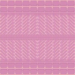 Pink and Gold Patterned Horizontal Stripe