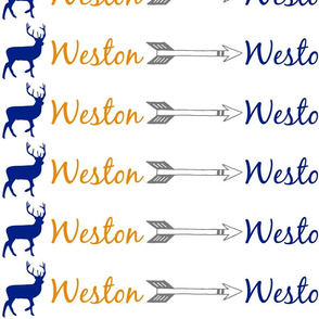 Weston with deer and arrows