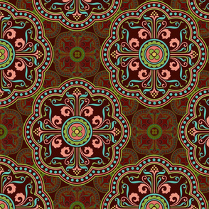Persian ornaments, rust