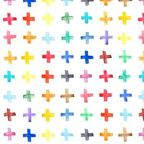 Rainbow Swiss Cross