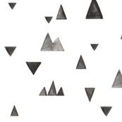 Watercolor Mountains and Triangles