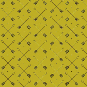 Arrows and Dots Mustard