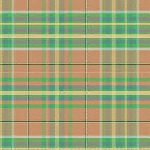 tartan - peach green blue