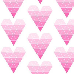 Pink Ombre Geometric Triangles