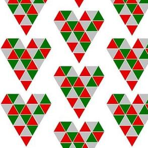 Christmas Geometric Hearts