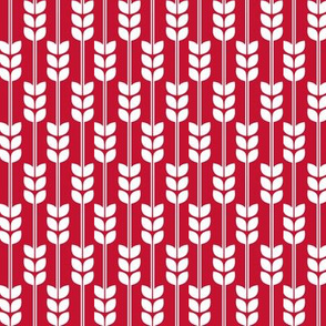 Wheat - White on Red, Small