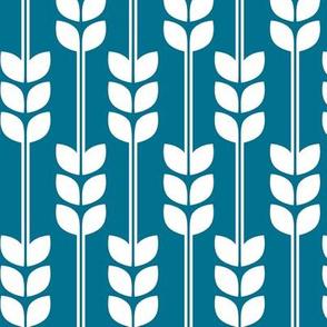 Wheat - White on Blue