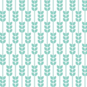 Wheat -Mint on White, Small