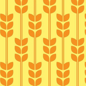 Wheat - Yellow on Pumpkin