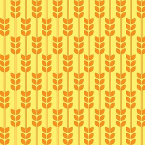 Wheat - Yellow on Pumpkin, Small