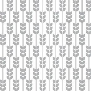 Wheat -Grey on White, Small