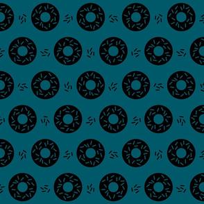 Geo Donut Sprinkles Blue