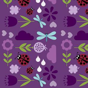 Spring bugs purple