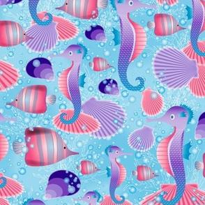 Seahorses (lavender)