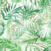 tropical watercolor palm leaves