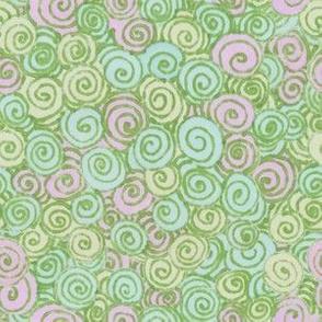 Pastel Swirl Lavendar Lime and Aqua