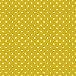 White Dots on Mustard (Autumn)