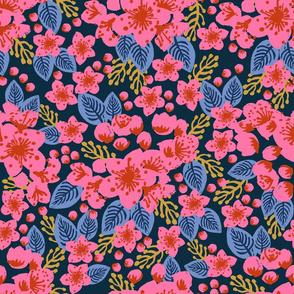 cherry blossom japanese garden pink flowers florals flower spring garden floral wallpaper