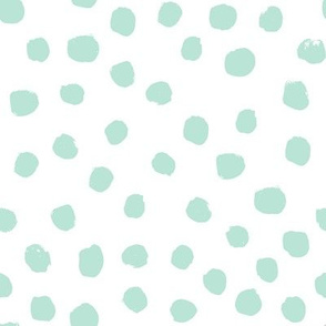 dots painted dots bay green mint blue kids nursery baby