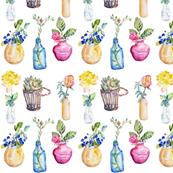 Tiny Flower Vases  by Jane LaFazio