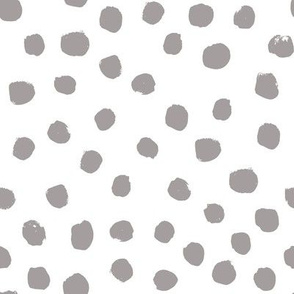 dots painted dots gray grey opal grey nursery baby