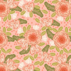 blush flowers coral pink girls sweet florals flowers blossom blooms