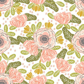 peach flowers spring blossoms blooms peach coral girls sweet painted flowers florals  larger version