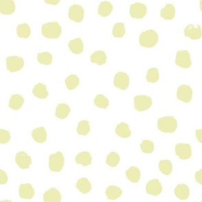 painted dots lemon yellow tender yellow pale yellow pastel cute baby nursery