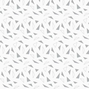 gray and white triangles