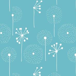 Scandinavian dandelion flower blossom garden summer fall blue
