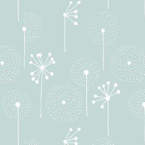 Scandinavian dandelion flower blossom garden summer fall mint