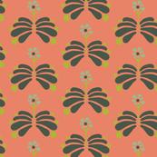 Peach Folk Flowers