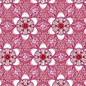 Custom Raspberry Pink Hearts and Flowers
