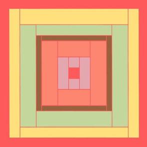 Peach Quilt Block 1