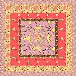 Peach Quilt Block 4