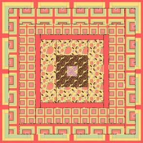 Peach Quilt Block 5
