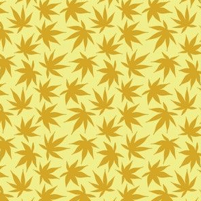 Japanese garden leaves gold