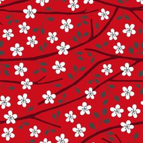 Tree blossom red
