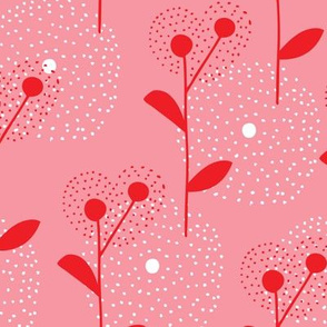 Pink summer dandelion flowers poppy garden
