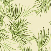 Cream Pine Needle_Miss Chiff Designs