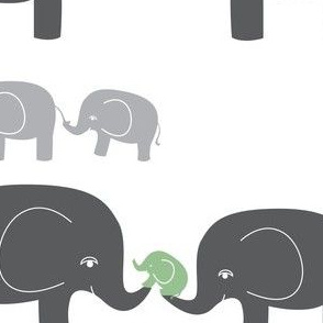 Elephants (in gray/sage)