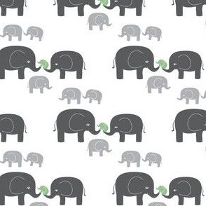Elephants (in gray/blue)