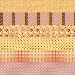 Peach Collection Filled Stripes